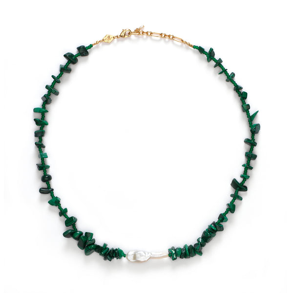 Ines Necklace - Stone Green