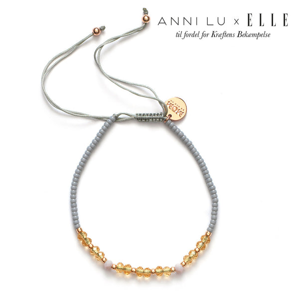 ANNI LU x ELLE 'MOM' Charity bracelet in grey or rose