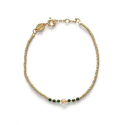 Bead & Gem Bracelet - Emerald