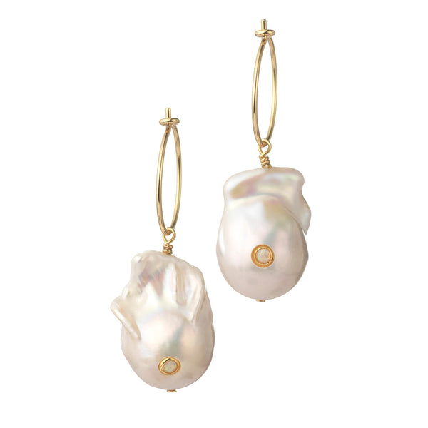 Browns x ANNI LU - Baroque Pearl Hoop Earrings