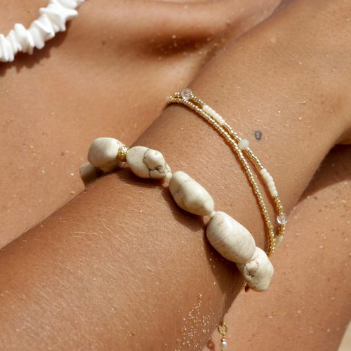 Beach Cocktail Bracelet - Ecru