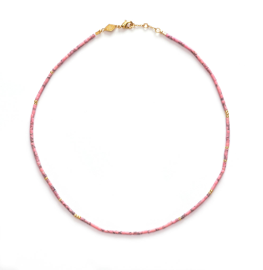Sun Stalker Necklace - Apricot Wash