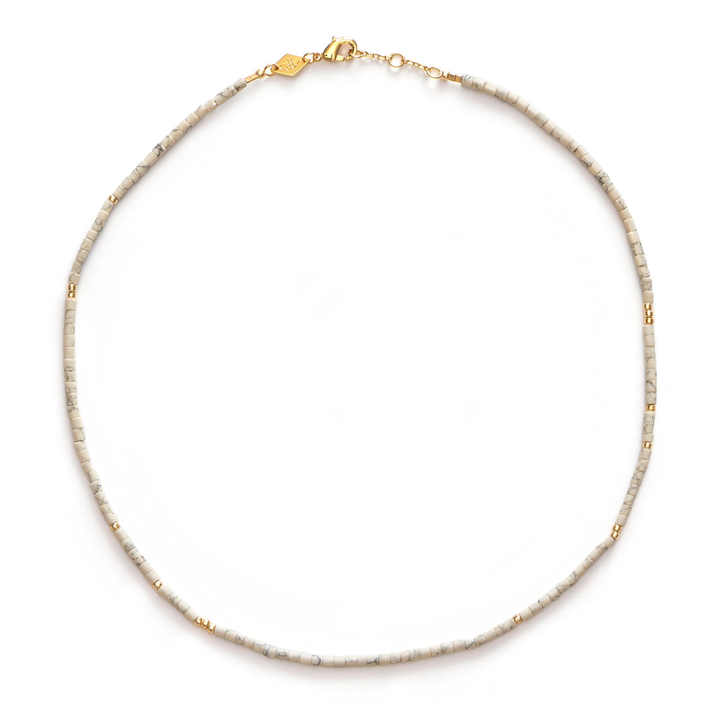 Sun Stalker Necklace - Cream