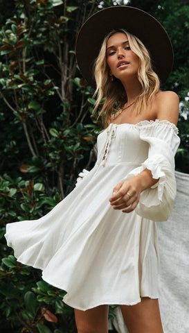 White Off -the-Shoulder Dress