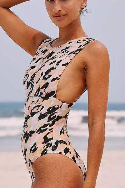 Animal Floral Print One Piece