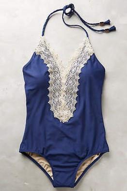 Glamorous Blue V Neckline One Piece Swimsuit