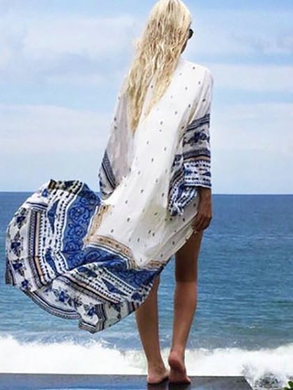 Sail the Ocean Chiffon Cover Up