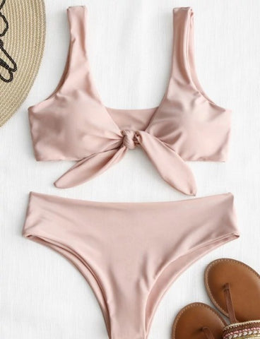 Pink Knot Bikini Bathing Suit