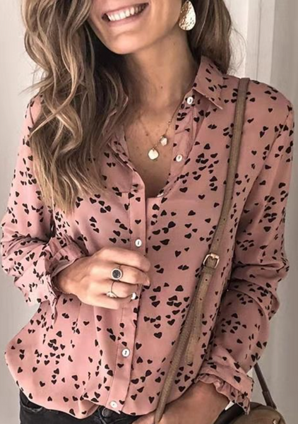 Dusty Pink Sweetheart Button Down Shirt