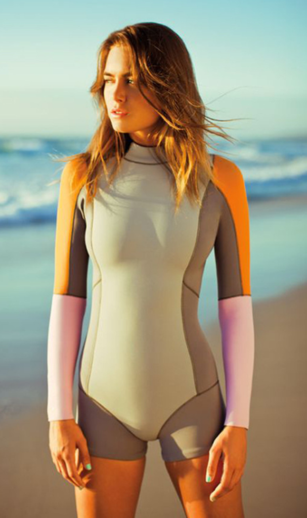 Color Bloack High Neck Surf Swimsuit