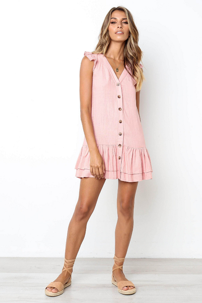 Celina Drop Waist Mini Dress