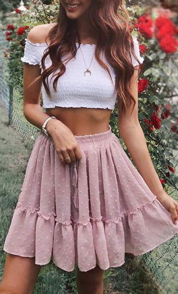 Dusty Pink Withdraw Mini Skirt