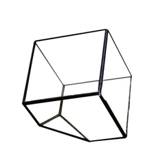 Square Shape Open Glass Geometric Terrarium Box Tabletop Succulent Plant Planter Fern Moss Wardian Case
