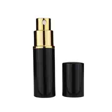 Black Metal Shell Refillable Perfume Atomizer (10ml) - 1pc