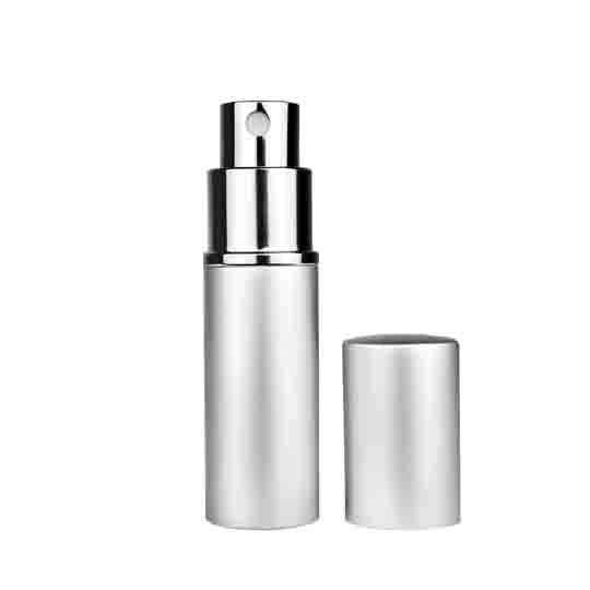 Silver Metal Shell Refillable Perfume Atomizer (10ml) - 1pc