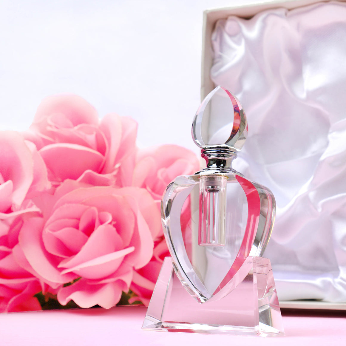 Crystal Heart Bottle & Perfume Oil
