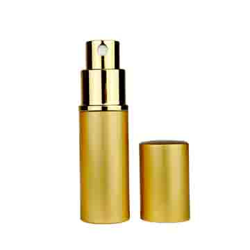 Gold Metal Shell Refillable Perfume Atomizer (10ml) - 1pc
