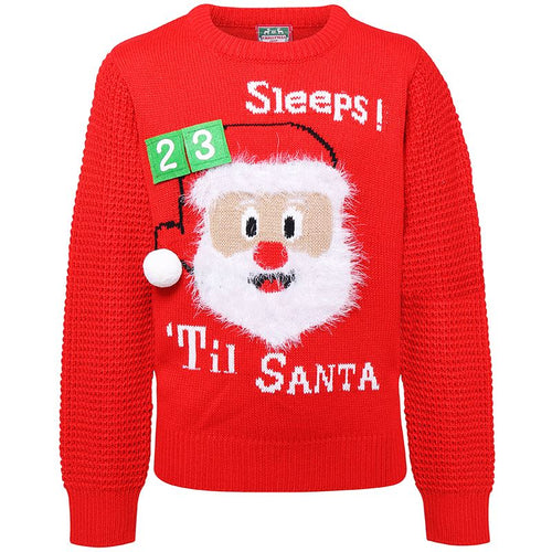 Kids 3D Countdown Christmas Jumper with Velcro