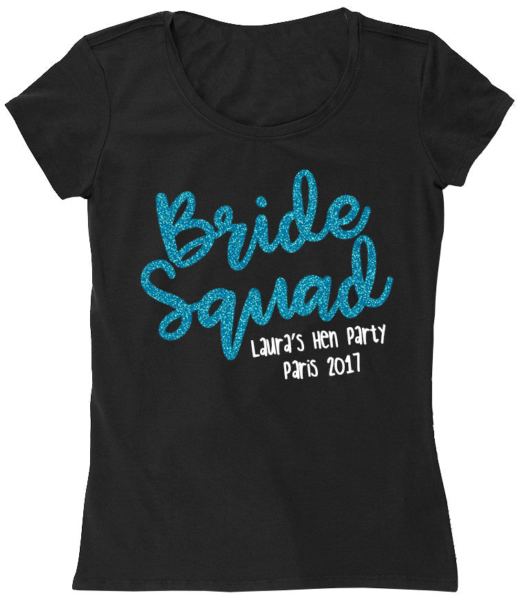 Glitter text bride squad also in black gold for Bucket squad gold shirt