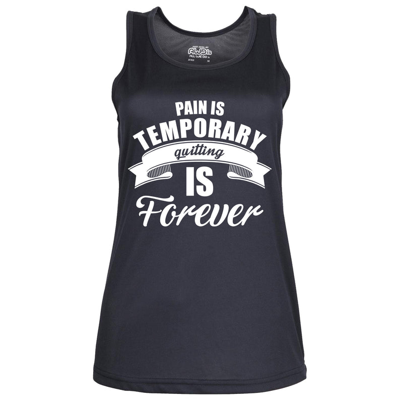 Pain Is Temporary, Quitting Is Forever - Womens Gym Vest
