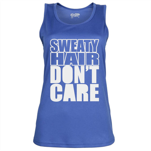 Sweaty Hair Don't Care - Womens Gym Vest