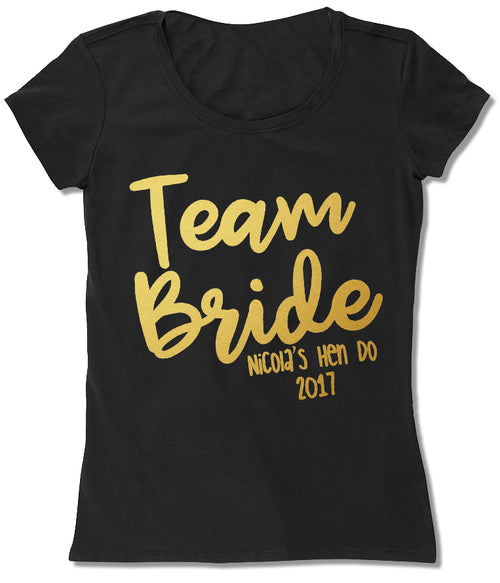Black & Gold Team Bride 2