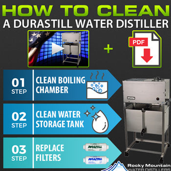 how to clean a durastill water distiller