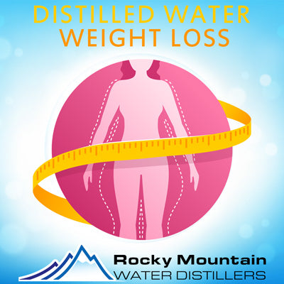 distilled water and weight loss benefits visualization