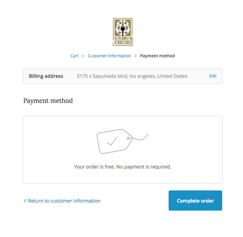 The payment portal
