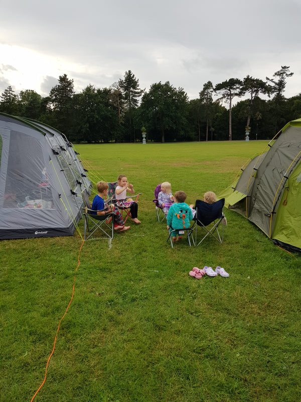 Camping with 2 Adults, 2 Children and 2 dogs