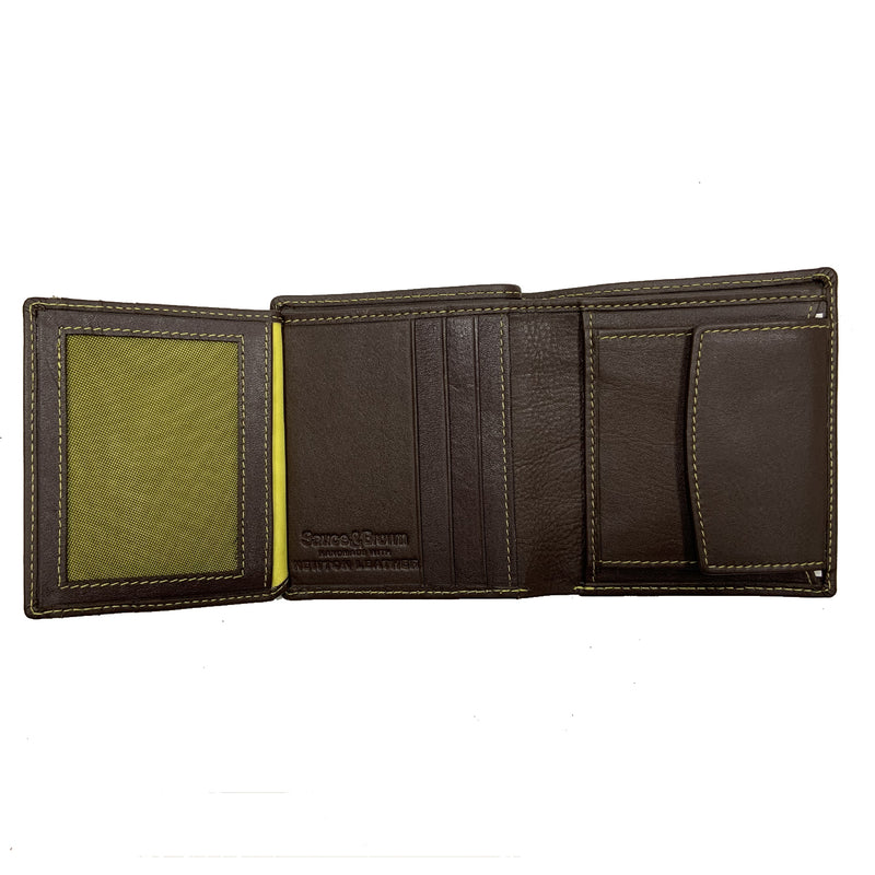 Heathcote Leather Fold Out Wallet Brown - Sauce and Brown