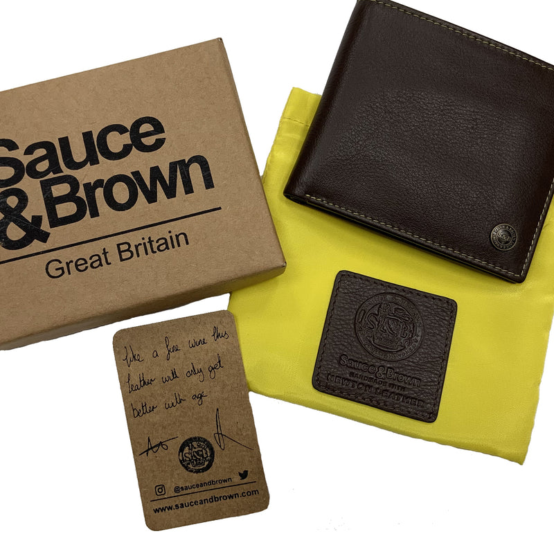 Heathcote Credit Card Wallet Brown - Sauce and Brown