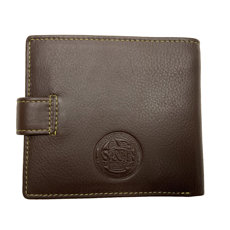 Heathcote Leather Zip Coin Wallet Brown - Sauce and Brown