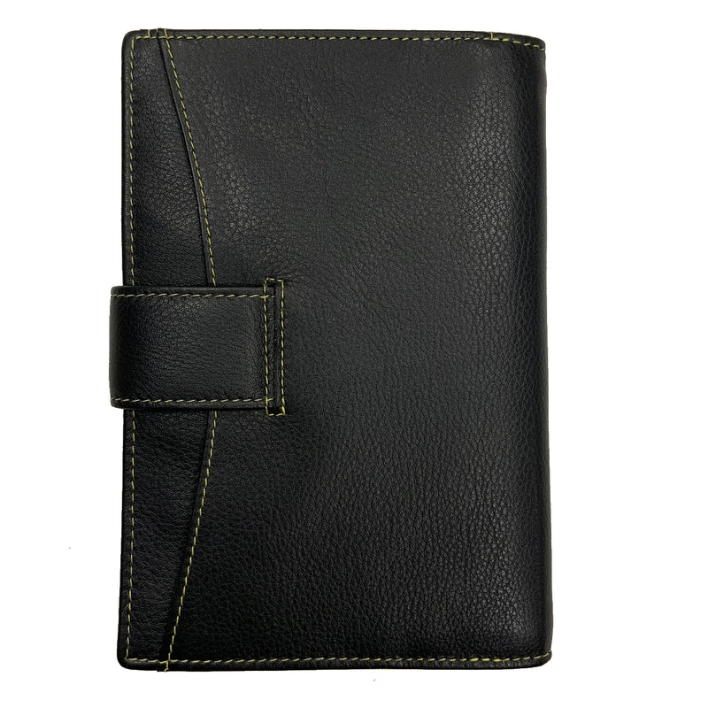 Heathcote Leather Document Holder Black - Sauce and Brown