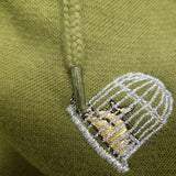Khaki Birdcage Hoody - Sauce and Brown