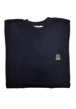 Midnight Navy Merino - Sauce and Brown