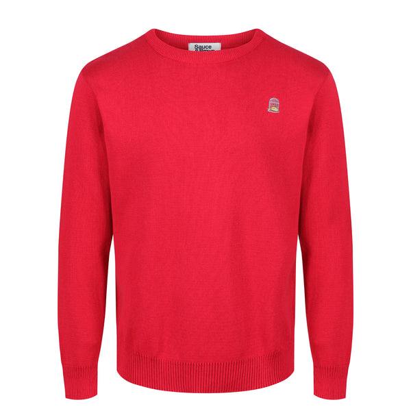 Redcurrant Cotton Jumper - Sauce and Brown