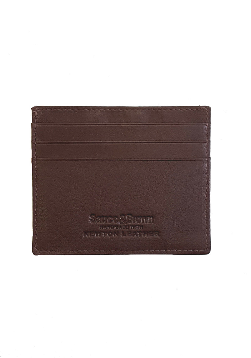 Brown Leather Card Holder - Sauce and Brown