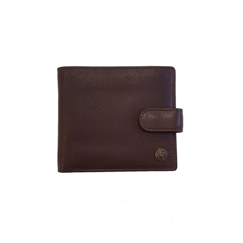 Brown Leather Zip Coin Wallet