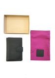 Black Leather Document Holder - Sauce and Brown