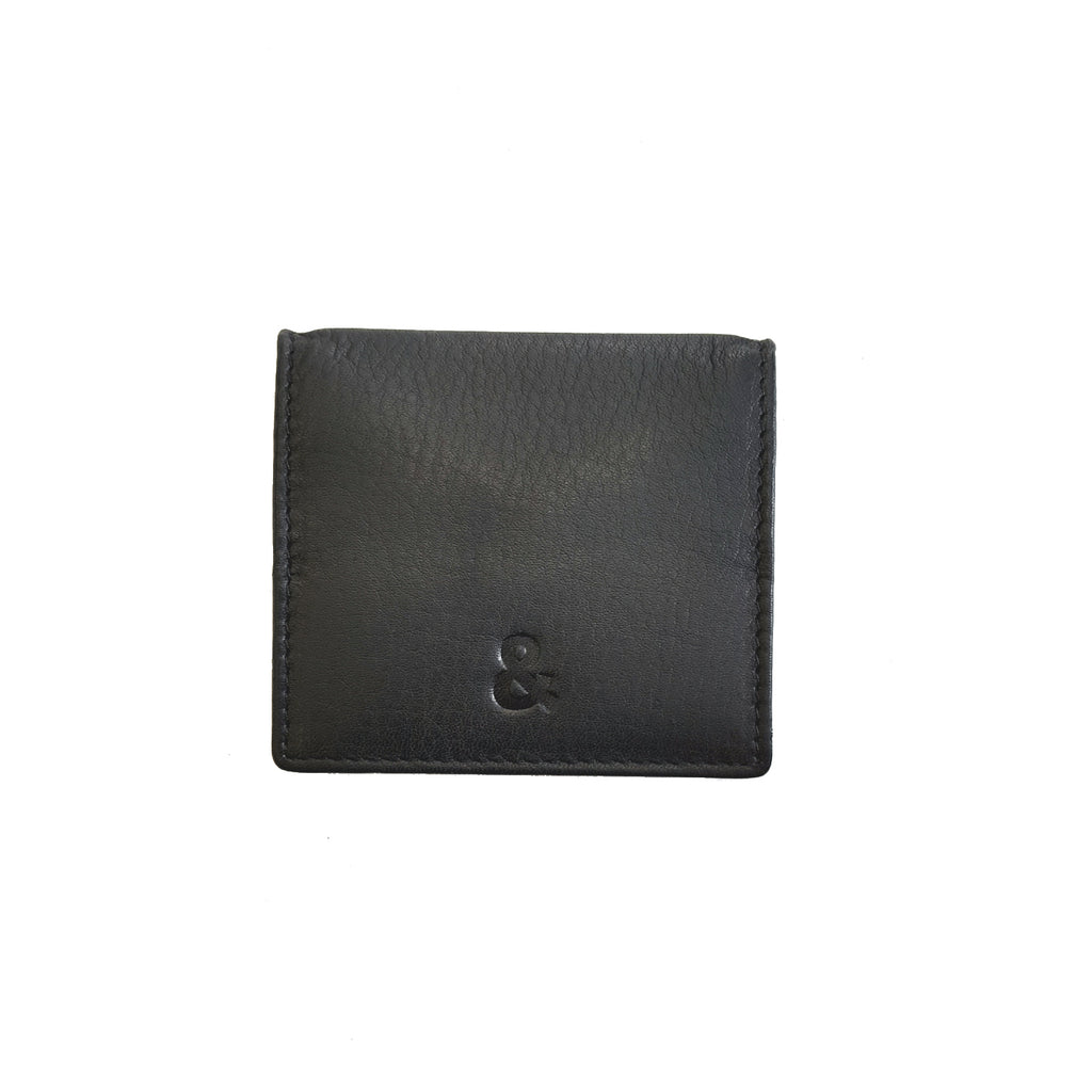 Black Leather Coin Holder