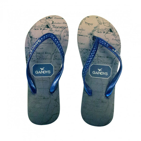 Navy Ombre Atlas Flip Flops - Sauce and Brown