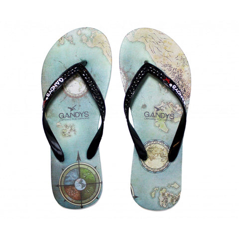 World at your feet Flip Flops
