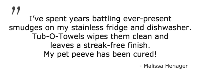stainless steel cleaning wipes for appliances and grills