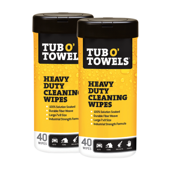 Tub O' Towels 40 count 2-pack