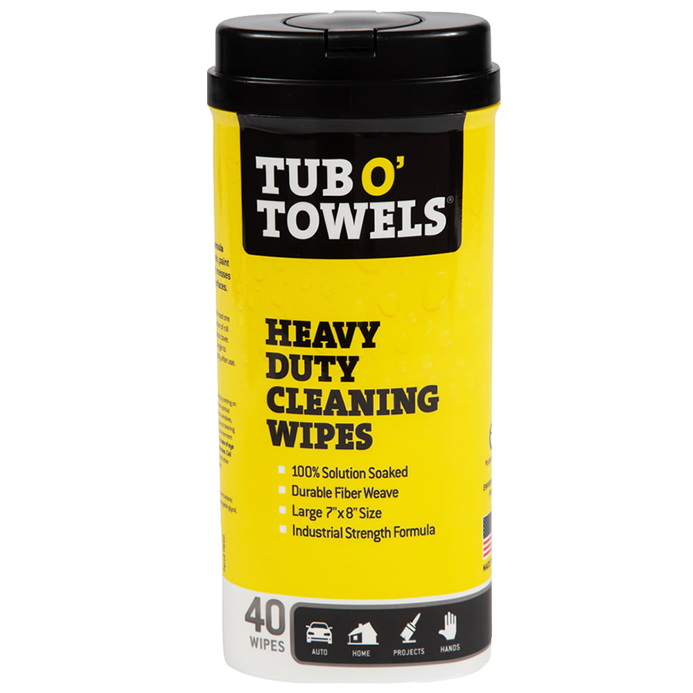 tub o towels heavy duty cleaning wipes
