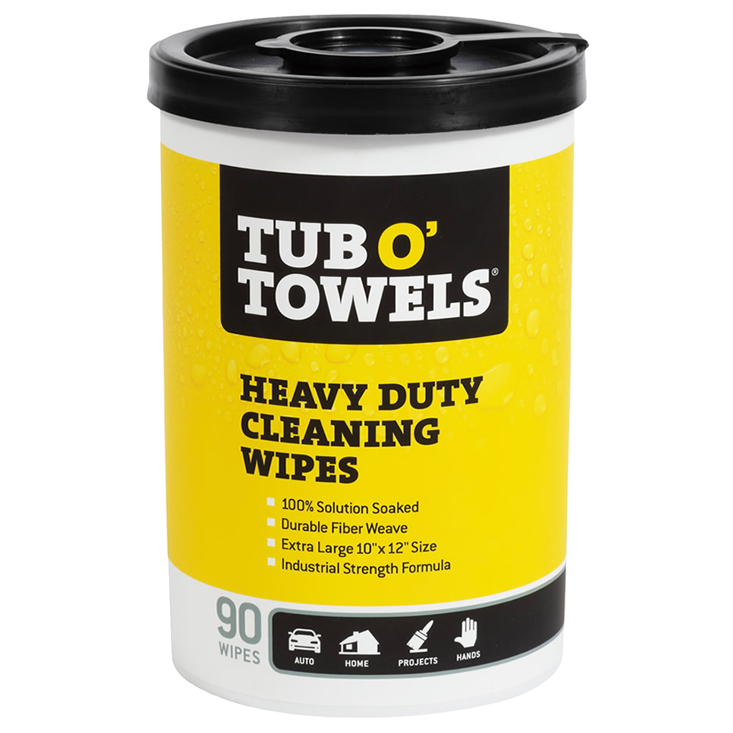 Tub O' Towels Heavy Duty Cleaning Wipes - 90 Count