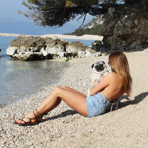Croatia, Pug, Handmade Leather Sandals