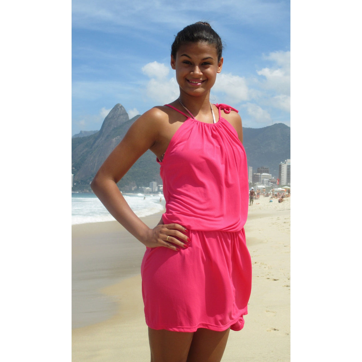 Kinky Octopus Hot Pink Beach Dress