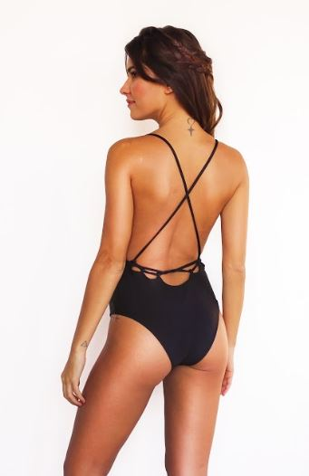 NEW! Opalocka, Hi-Gloss Black Shaper Swimsuit